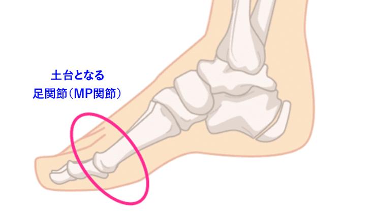 土台となる足関節