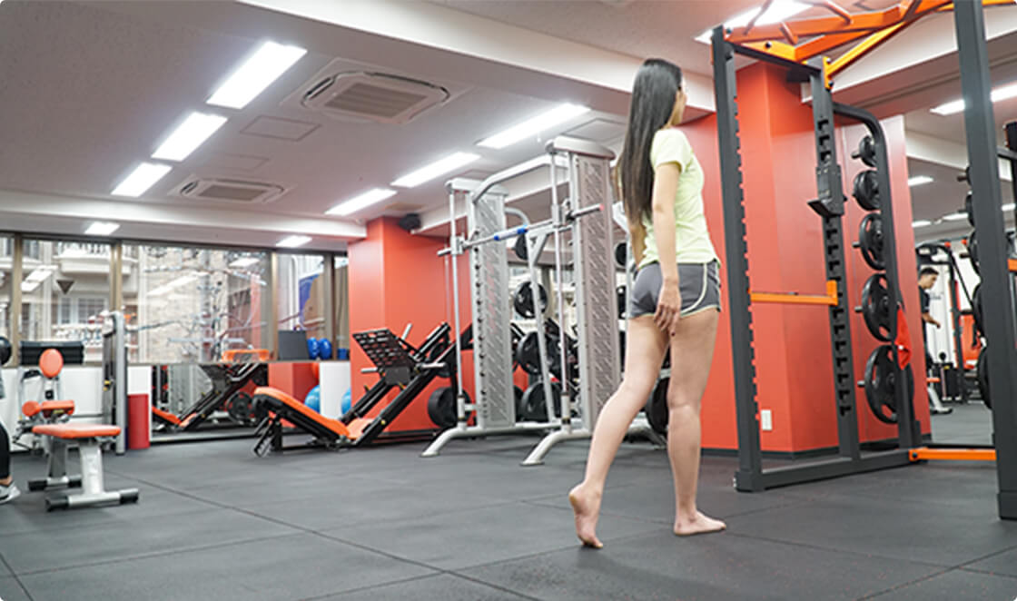 広々とした空間でトレーニングいただけます!