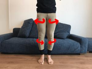 膝内旋 股関節外旋 navis