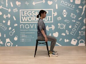 動きやすいイスの座り方